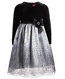 Good Lad Toddler Girls Silver-Tone Sparkle Dress