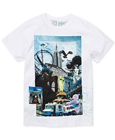 Born Fly Men's Big & Tall Square Appliqué Graphic T-Shirt