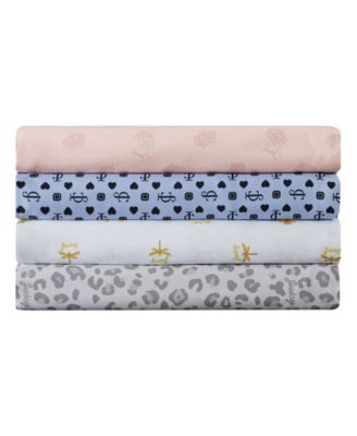 Key Iconic 4-Piece Queen Microfiber Sheet Set