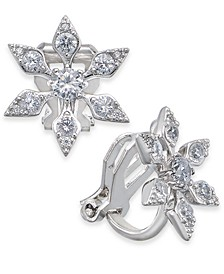 Danori Crystal Snowflake Clip-On Drop Earrings, Created For Macy's