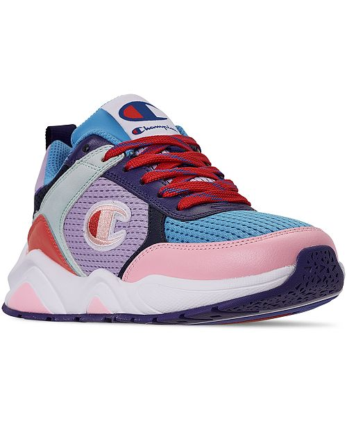 Champion Women's 93Eighteen Color Block Casual Sneakers from Finish Line
