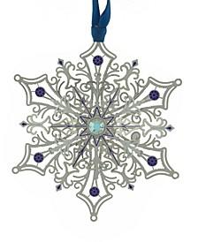 Glittering Silver Snowflake  Ornament