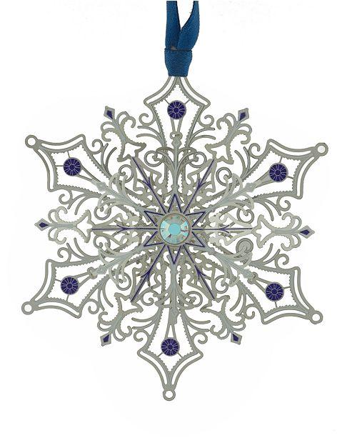 ChemArt Glittering Silver Snowflake  Ornament