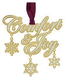 Comfort and Joy Ornament