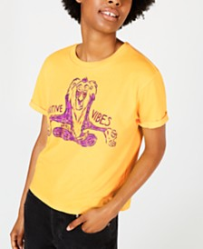 Mighty Fine Juniors' Lion King Rafiki Good Vibes T-Shirt