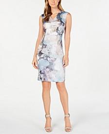 Soft Floral-Print Sheath Dress