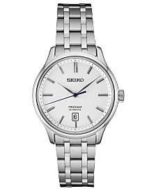 Seiko Men's Automatic Presage Stainless Steel Bracelet Watch 41.7mm