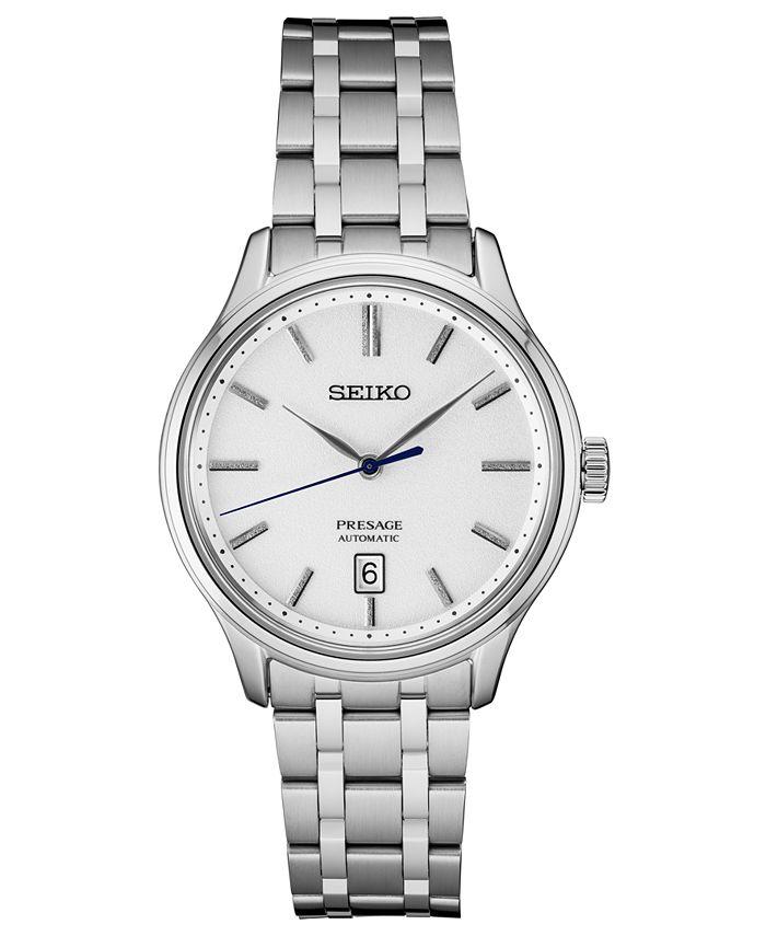 Seiko - Men's Automatic Presage Stainless Steel Bracelet Watch 41.7mm