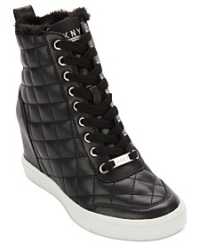 DKNY Cira Wedge Sneakers, Created For Macy's