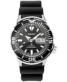 Men's Automatic Prospex Diver Black Silicone Strap Watch 42.4mm