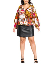 City Chic Trendy Plus Size Opulence Top