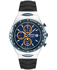 LIMITED EDITION Chronograph Macchina Sportiva Black Silicone Strap Watch 43mm, Created for Macy's