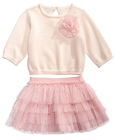 First Impressions Baby Girls 2-Pc. Sweater & Skirt Set, Created for Macy's