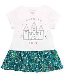 Toddler Girls Castle-Print Cotton Peplum Tunic, Created for Macy's