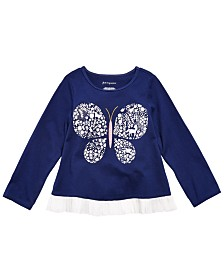 First Impressions Baby Girls Cotton Butterfly T-Shirt, Created for Macy's