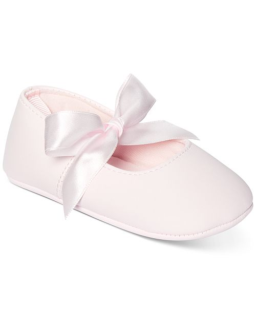 First Impressions Baby Girls Ribbon Ballerina Flat, Created for Macy's