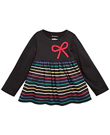 Toddler Girls Cotton Multicolored Stripe Tunic, Created For Macy's