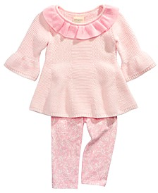 Baby Girls 2-Pc. Sweater Tunic & Printed Leggings Set, Created for Macy's