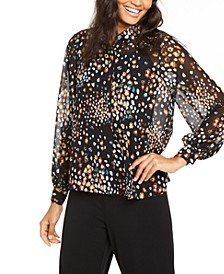 Petite Animal-Print Shirt, Created For Macy's