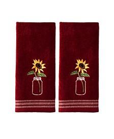 Ltd Sunflowers in Jar 2 Piece Hand Towel Set