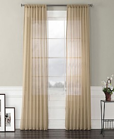 "Exclusive Fabrics Furnishings Faux Linen Sheer Curtain 108"" x 50"" Curtain Panel"