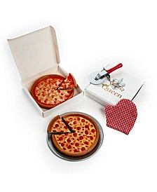 "18"" Doll Pizza Night Set, Pepperoni and Cheese Pizzas, Pizza Boxes, Pan, Pizza Cutter and Oven Mitt, Food and Accessory Set"