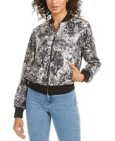 Oria Sequined Bomber Jacket