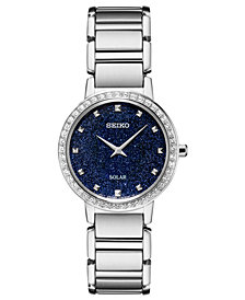 Seiko Women's Solar Stainless Steel Bracelet Watch 30.3mm