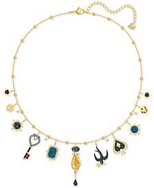 "Gold-Tone Crystal Tarot-Inspired Choker Necklace, 12' + 2"" extender"