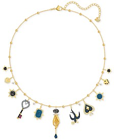"Swarovski Gold-Tone Crystal Tarot-Inspired Choker Necklace, 12' + 2"" extender"