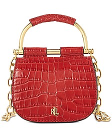 Mason Croc-Embossed Leather Convertible Satchel