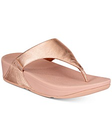 Lulu Leather Toepost Flip-Flop Sandals