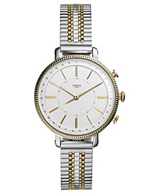 Women's Tech Cameron Two-Tone Stainless Steel Bracelet Hybrid Smart Watch 36mm