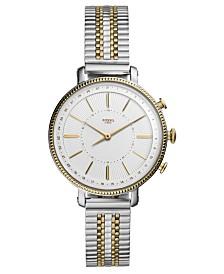 Fossil Women's Tech Cameron Two-Tone Stainless Steel Bracelet Hybrid Smart Watch 36mm