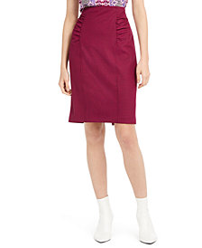 Nanette Lepore Ruched Pencil Skirt