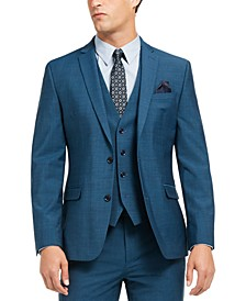 Men's Slim-Fit Active Stretch Performance Teal Suit Separate Jacket, Created for Macy's