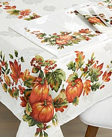 "CLOSEOUT! Fall Inspiration 60"" x 84"" Tablecloth"