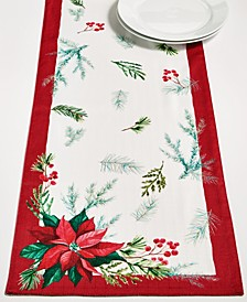 "CLOSEOUT! Christmas Sprig Red 70"" Runner"