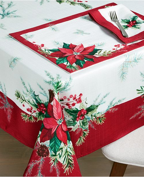 Bardwil Christmas Sprig Table Linen Collection