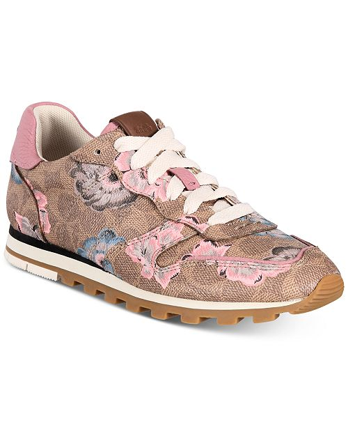 COACH Women's C118 Floral Sneakers