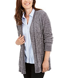 Chenille Open-Front Cardigan, Created for Macy's