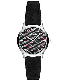 Women's Black Vegan Leather Strap 32mm