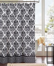 Kira Printed Canvas 13-Pc. Shower Curtain Set