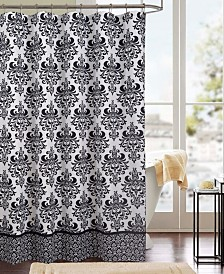 RT Designers Collection Kira Printed Canvas 13-Pc. Shower Curtain Set