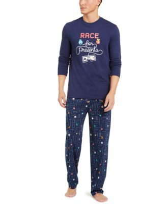 Matching Men's Race For Presents Pajama Set, Created for Macy's