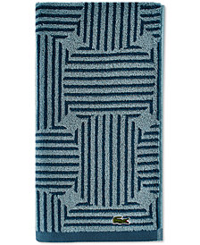 "Lacoste Geo Compass Cotton 16"" x 30"" Hand Towel"
