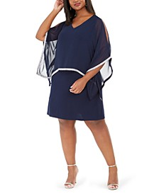 Plus Size Rhinestone Overlay Dress
