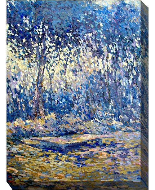 """West of the Wind River Blue Indoor/Outdoor Art, 30"""" x 40"""""""