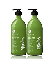 Luseta Beauty Macadamia & Argan Oil Shampoo & Conditioner Set 67.6 Ounces