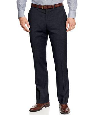 MICHAEL Michael Kors Solid Flat-Front Dress Pants